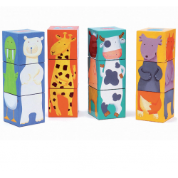 12 Color Animal Cubes