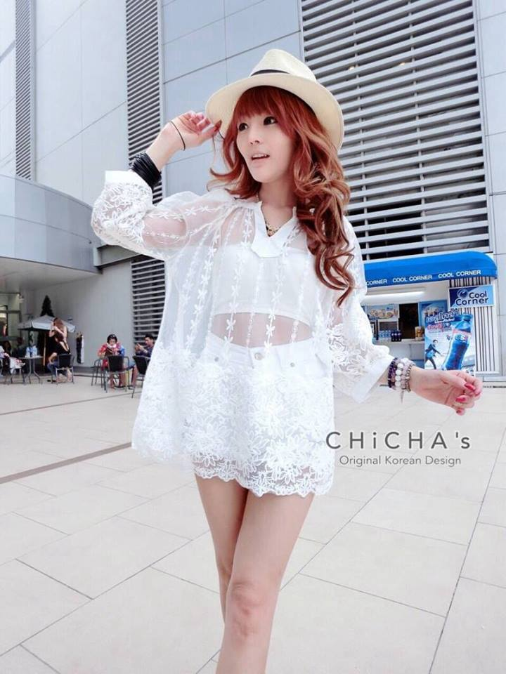 Florally Embroidery Lace Dress C150-58A11