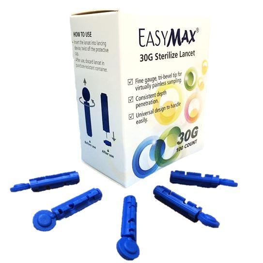 เข็มเจาะเลือด Easy Max sterilance Lancet 30G 100pcs
