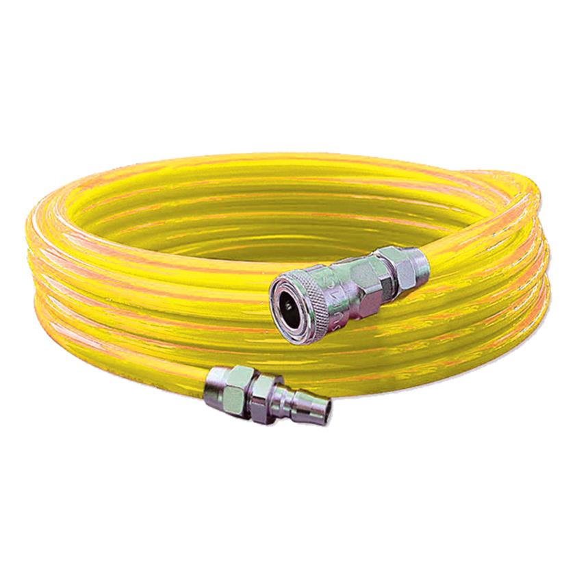 Eurox สายลมพร้อมใช้ 5*8 พร้อมหัว Coupler (สีเหลือง) 15 เมตร