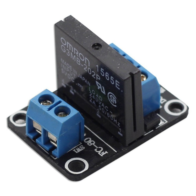 1 Channel 5V Solid State Relay (SSR) with Fuse 250V 2A