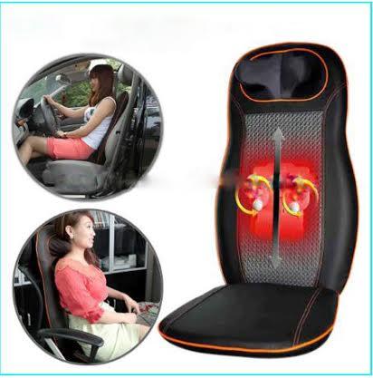 สินค้าเกรดห้าง เบาะนวด หลังและคอ ระบบลูกกลิ้งอินฟราเรดไฟฟ้า Kneading Rolling Massage Seat Cushion ใช้ได้ทั้งไฟบ้าน ไฟรถ