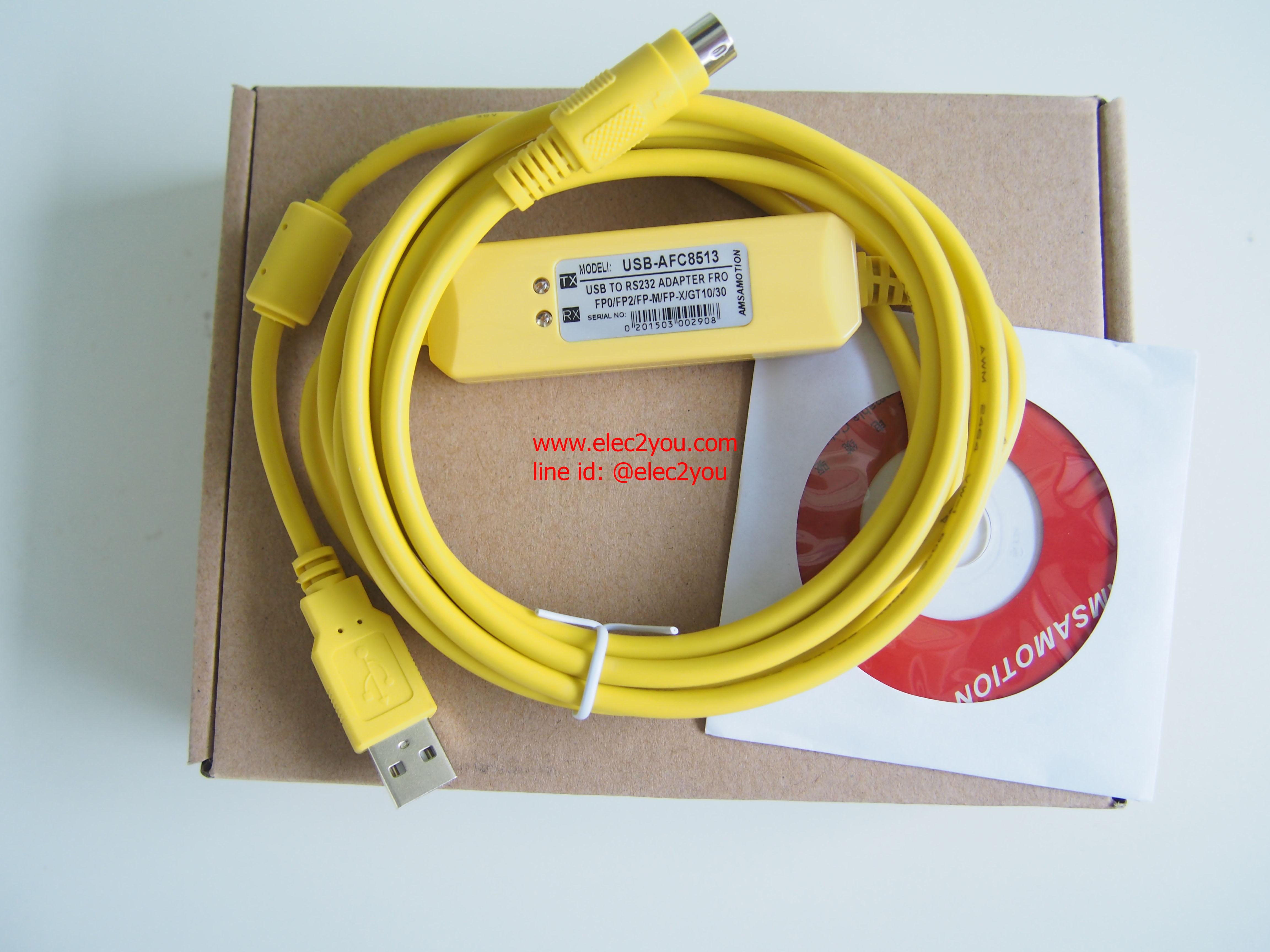 สาย USB-AFC8513 Panasonic FP0 / FP2 / FP-X / FP-M series PLC programming