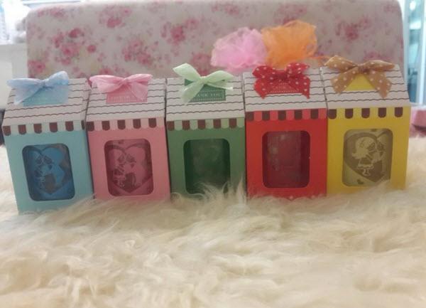 แก้วเป๊กกล่องบ้านเลือกสีได้