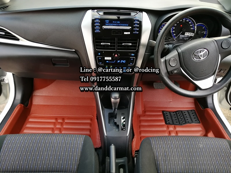พรมปูพื้นรถยนต์ 5D เข้ารูป Toyota VIOS พรม 5D VIOS