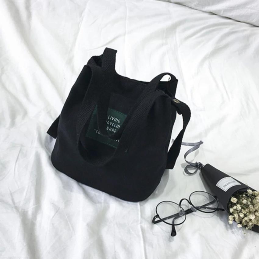 BB กระเป๋าทรงขนมจีบ คล้องแขน ผ้าเนื้อดี (สีดำ) รุ่น8049