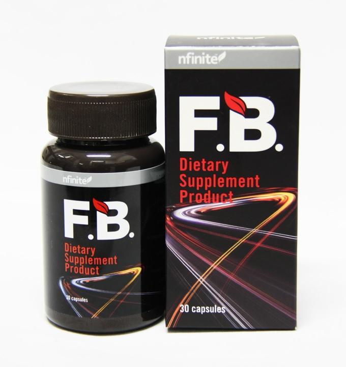 FB Fat burn เอฟ.บี. ผลิตภัณฑ์เสริมอาหาร (เอ็นฟินิต) ลดไขมันช่องท้อง สลายเซลลุไลท์ 30 Capsules