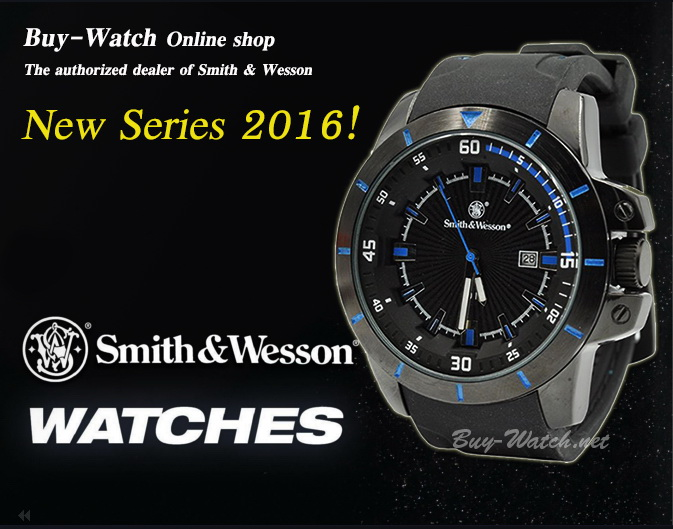 นาฬิกาสปอร์ตแฟชั่น Smith Wesson Sport Fashion Watch 397 Series(น้ำเงิน) แสดงเวลา-วันที่ สายข้อมือยางคุณภาพดี