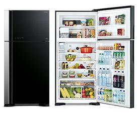 ตู้เย็น HITACHI R-VG450PZ สีดำ แถมกระเป๋าเดินทางล้อลาก
