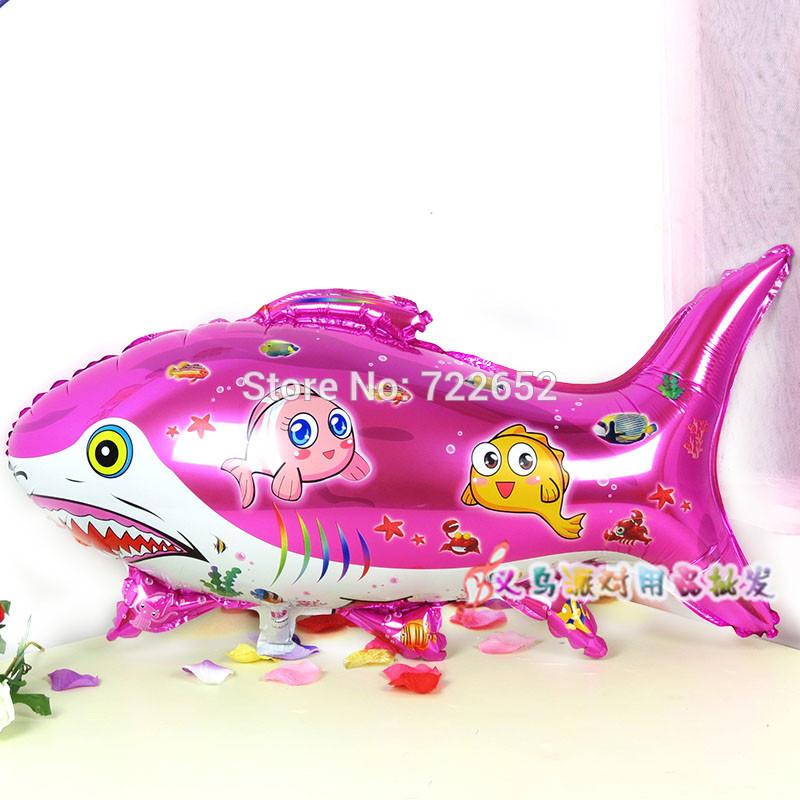 ลูกโป่งปลาฉลามสีชมพู