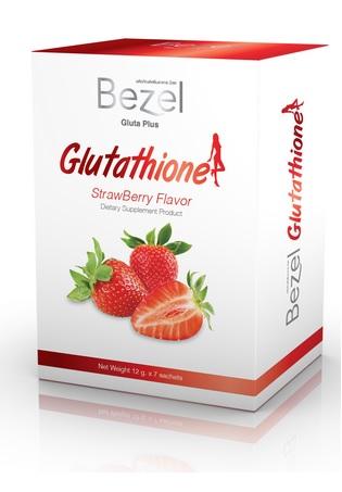 Bezel Gluta Plus Glutathione StrawBerry Flavor (12gm X 7 ซอง) บีเซล กลูต้า พลัส