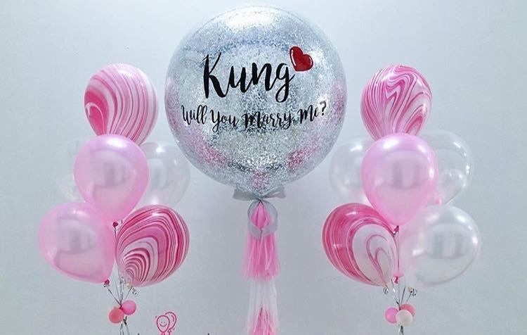 will you marry me balloons พร้อมช่อประดับ