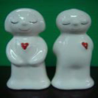 กระปุกพริกไทยเซรามิกตุ๊กตาชายหญิง