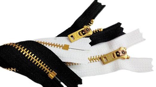 ซิปทองเหลือง YKK 3นิ้ว (ถอดไม่ได้) ฟันเบอร์ 3และ 5
