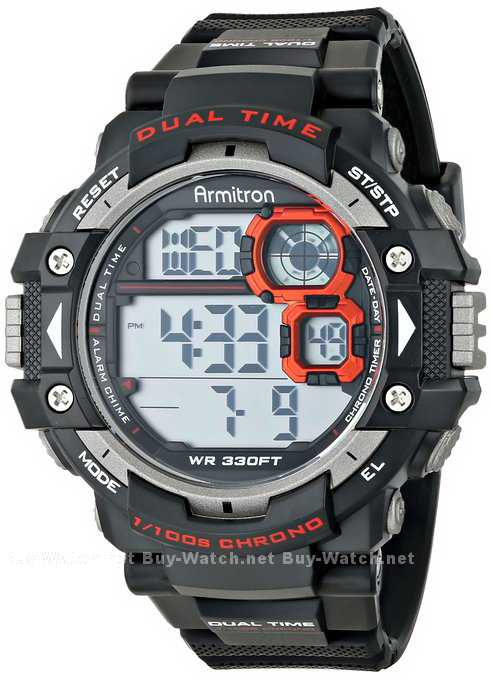 นาฬิกาข้อมือผู้ชายแนวสปอร์ตของแท้ Armitron Sport 408309RED Digital ดิจิตอล สายข้อมือยาง