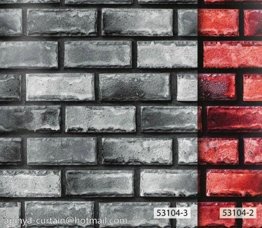 53104-3 วอลเปเปอร์ติดผนัง ลายอิฐ ลายหิน อัลบั้ม สายไหม