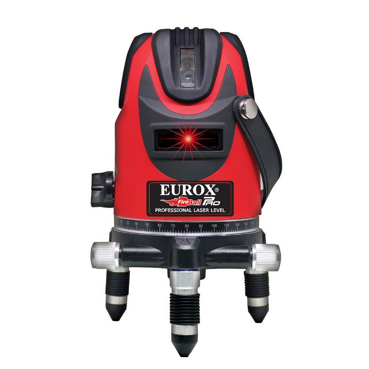 เครื่องเลเซอร์วัดระดับ (แสงสีแดง 10 วัตต์) EUROX EL-510 (พร้อมชุดขาตั้ง)