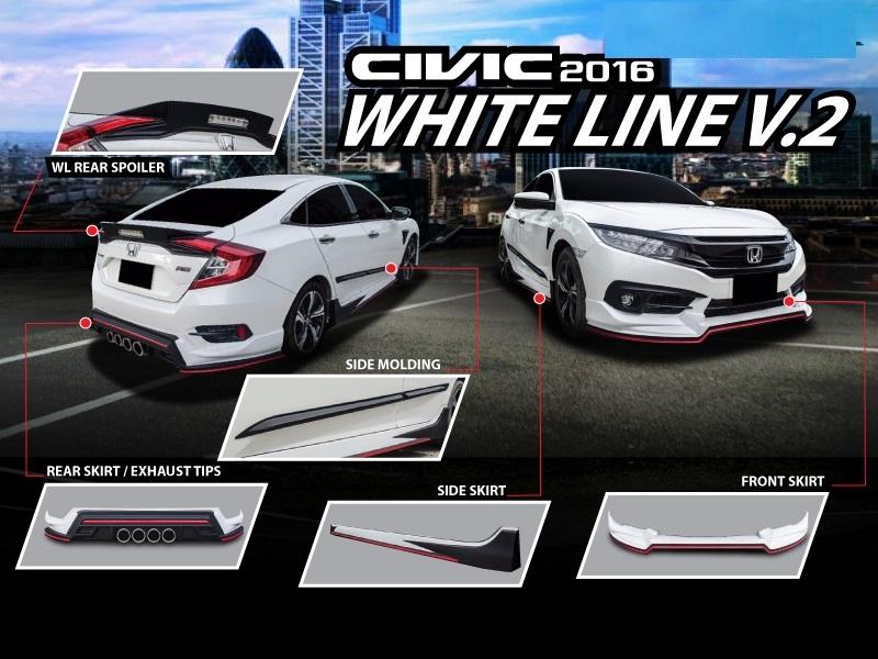 ชุดแต่งรอบคัน Civic FC 2016 2017 RED LINE V II