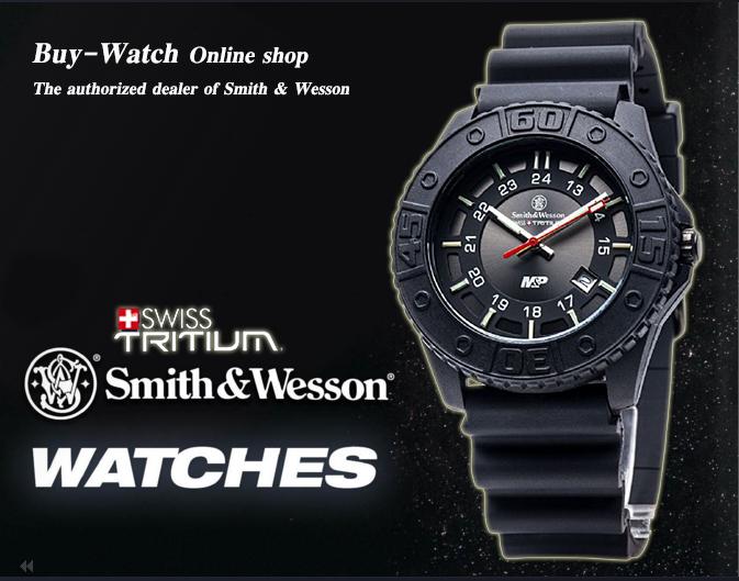 นาฬิกาทหารSmith&Wesson SWISS Quartz Tritium H3 Watch Military&Police สายข้อมือยางคุณภาพดี พร้อมกล่องอลูมิเนียมชนิดพิเศษ