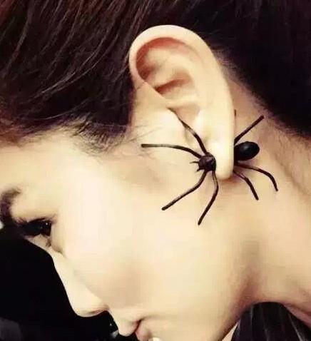 ต่างหูวินเทจ แมงมุม แบบ 3 มิติ
