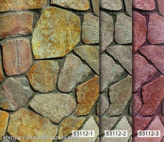 53112-1 วอลเปเปอร์ติดผนัง ลายอิฐ ลายหิน อัลบั้ม สายไหม