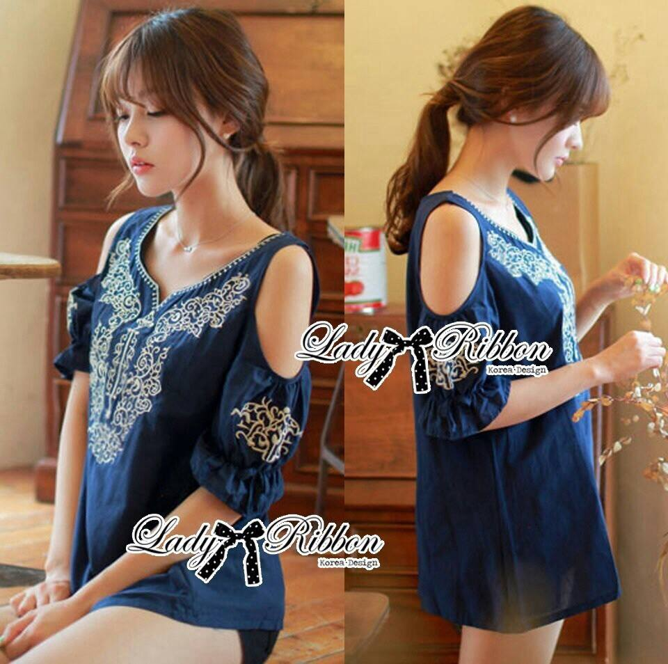 DR-LR-091 Lady Ivy Bohemian Chic Embroidered Electric Dress