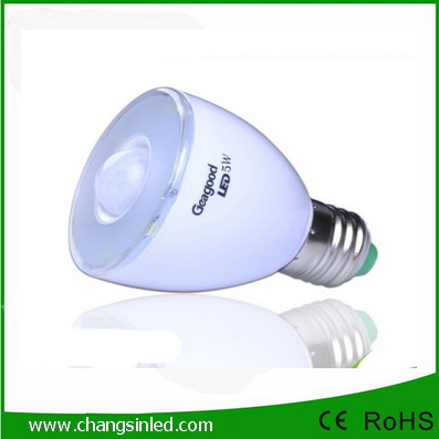หลอดไฟ LED E27 Blub 5w Motion Sensor