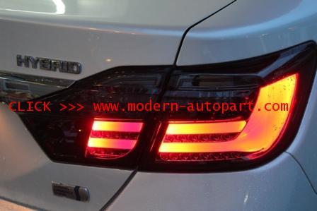 โคมไฟท้าย Camry 2012 2013 BMW S7 ดำ