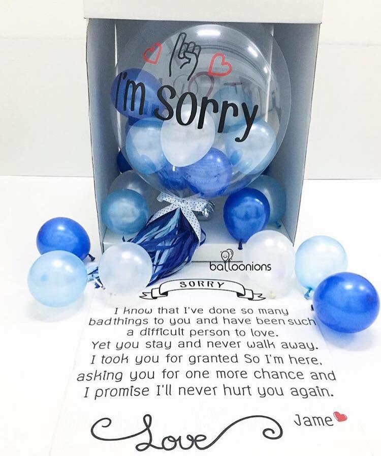 ลูกโป่งขอโทษ,balloon sorry