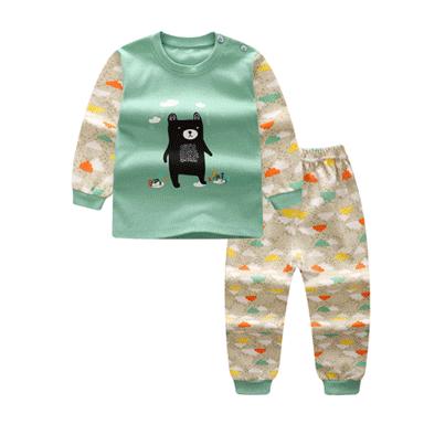 ไซส์ 73 เดือน ชุดนอนเด็กผ้านิ่ม สีเขียว
