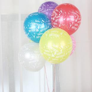 ลูกโป่งมุก12นิ้ว ลายวันเกิด คล่ะสี แพค10ใบ60บาท