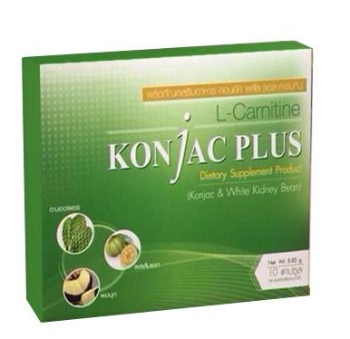 KonJac Plus ผลิตภัณฑ์อาหารเสริม ลดน้ำหนัก (1 กล่อง 10แคปซูล)