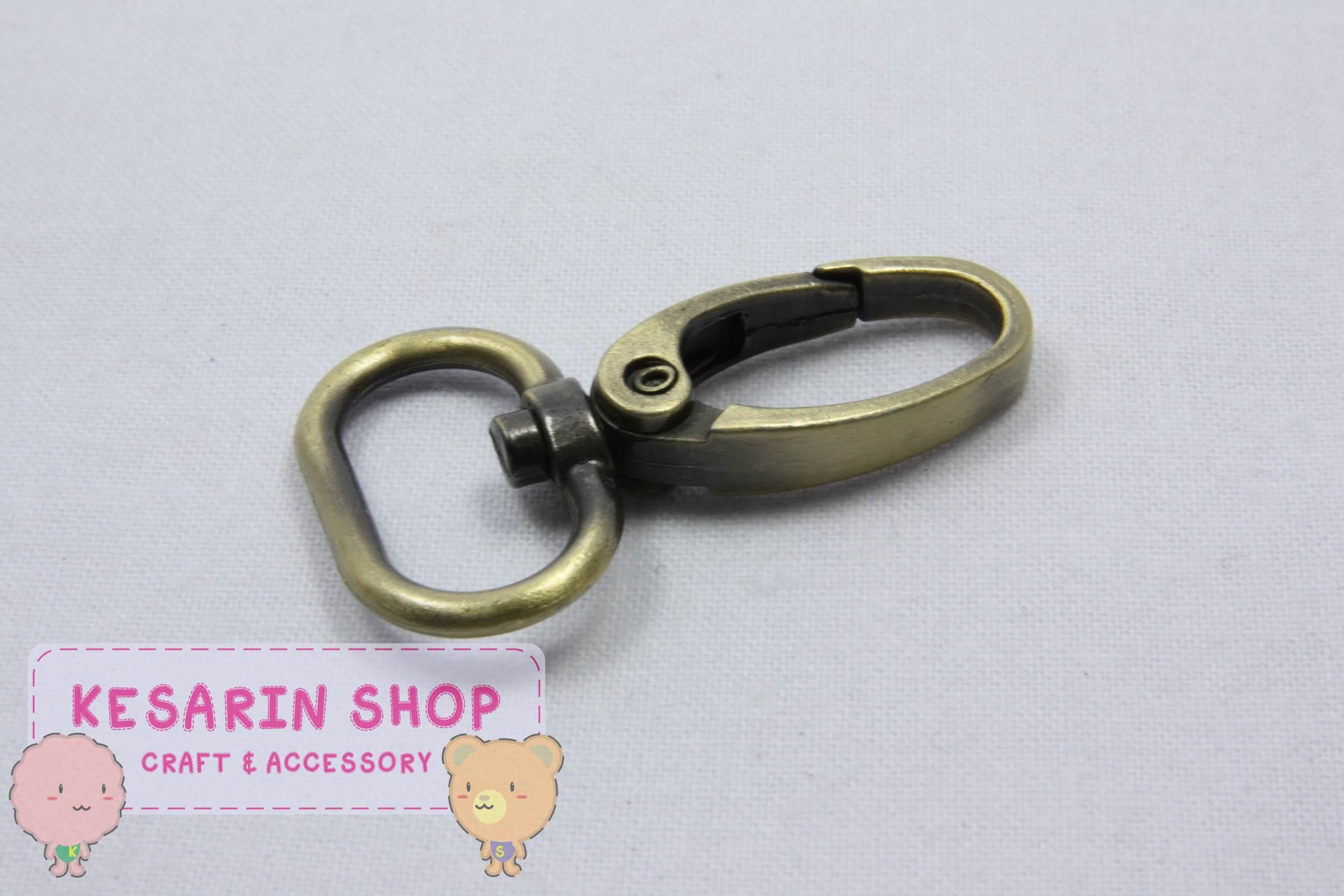 คอหมา สีทองรมดำ ขนาด 4 cm