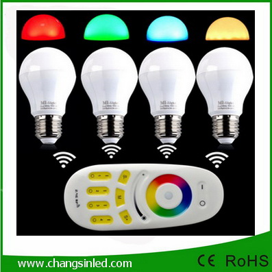 หลอดไฟ LEDไร้สาย wifi Bulb 2.4G 6wx4 RGB เปลี่ยนสีได้+WiFi Remote