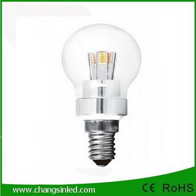 หลอดไฟ E14 สไตล์วินเทจ LED SMD5730 Ball Bulb Light Lamp 3w