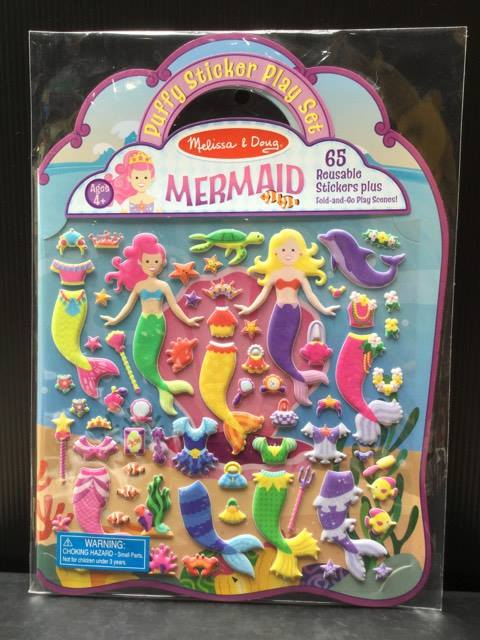 (Puffy Sticker Play Set) Mermaid