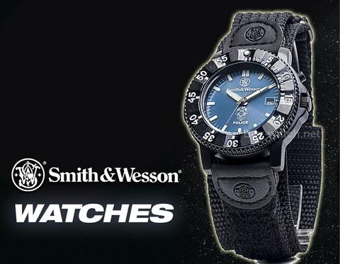 นาฬิกาข้อมือ Smith-Wesson Watch Police Quartz Analog EL Light นาฬิกาสปอร์ต สายผ้าไนล่อนคุณภาพดี