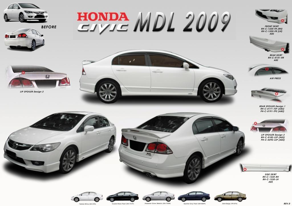 ชุดแต่งรอบคัน Honda Civic 2009 2010 2011 Mudulo