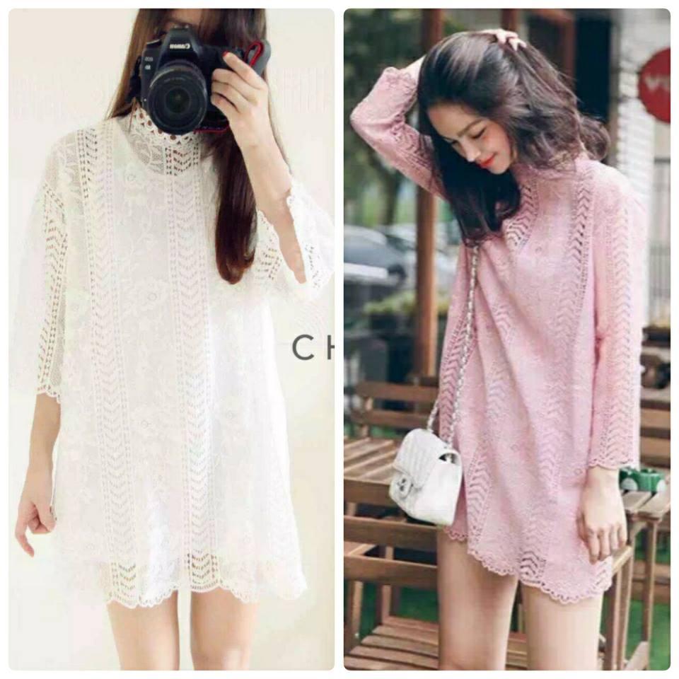 Pastel Lacy Mini Dress C235-59A01