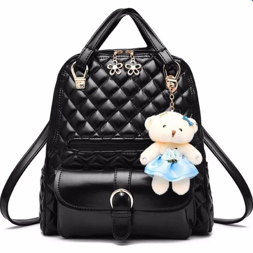 BEST RockLife 3 in 1 Women Bag Top Handle Bag Women Backpack กระเป๋าสะพายไหล่ กระเป๋าเป้สะพายหลัง -(Black) (รหัสสินค้า 2zuSh4z)