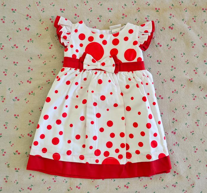 ไซส์ 9-12 เดือน Laura Ashley ชุดกระโปรงเด็กผู้หญิง