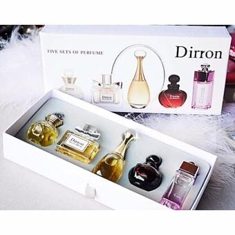 ชุดน้ำหอมสำหรับผู้หญิง 5บุคคลิกไฮโซ/เซ็กซี่/ร้อนแรง/สวยหวาน/หรูหรา ปรับได้หลายลุคในแต่ละโอกาส Dirron Five Sets Of Perfume 5ml.x5