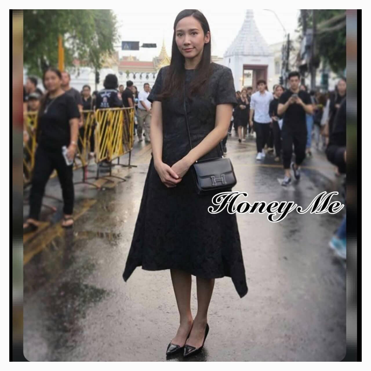 Dress สีดำดี ผ้าฉลุลาย
