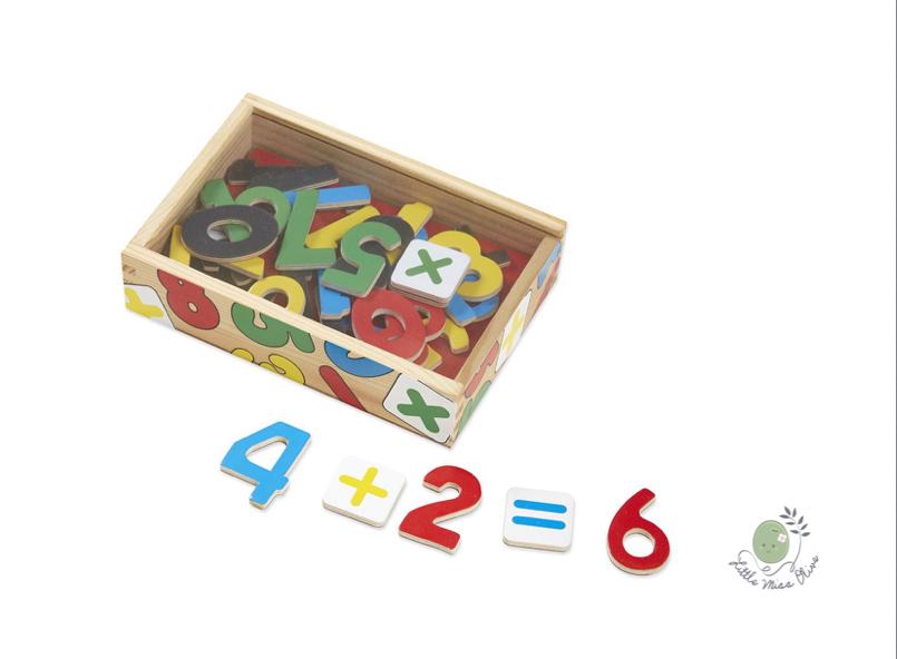Wooden Number Magnets