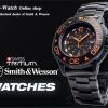 นาฬิกาทหารSmith&Wesson SWISS Quartz Tritium H3 Watch Diver Orange พร้อมสายข้อมือ 2 สาย ยางและแสตนเลส