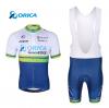 ชุดปั่นจักรยานแขนสั้นทีม ORICA เสื้อปั่นจักรยาน กับ กางเกงปั่นจักรยาน(แบบมีเอี่ยม)
