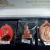 หลวงพ่อคูณ รุ่นปาฏิหาริย์ EOD ชุดแจกกรรมการและสมนาคุณศูนย์กระจายบุญ ๓ เหรียญ ๓ แบบ ในกล่องกำมะหยี่สีน้ำเงิน