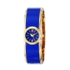 นาฬิกาผู้หญิงCaravelle New York by Bulova หน้าปัดกลม สายข้อมือแบบกำไล ตัวเรือนทูโทนสีฟ้าและสีทอง