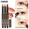 NOVO Stereo Two Color Silky Eyeshadow (รุ่นแท่งดำ) ระบุสีมาคะ