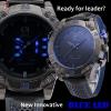 นาฬิกาSHARK Watch KiteFin (น้ำเงิน) Digi-Analog Quartz 2 ระบบ สายข้อมือหนัง แสดงเวลา,วัน,วันที่